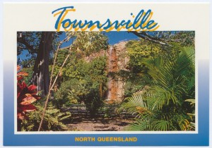 Townsville waterfall postcard
