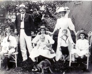 Barcaldine, 1910 Jim, Frank, Phyllis and John, Vida, David and Evie Matthews