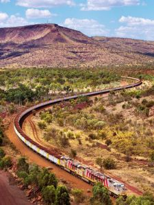 compass pilbara iron ore train abc news