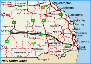 texas map south qld