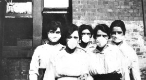 diphtheria flu masks 1919